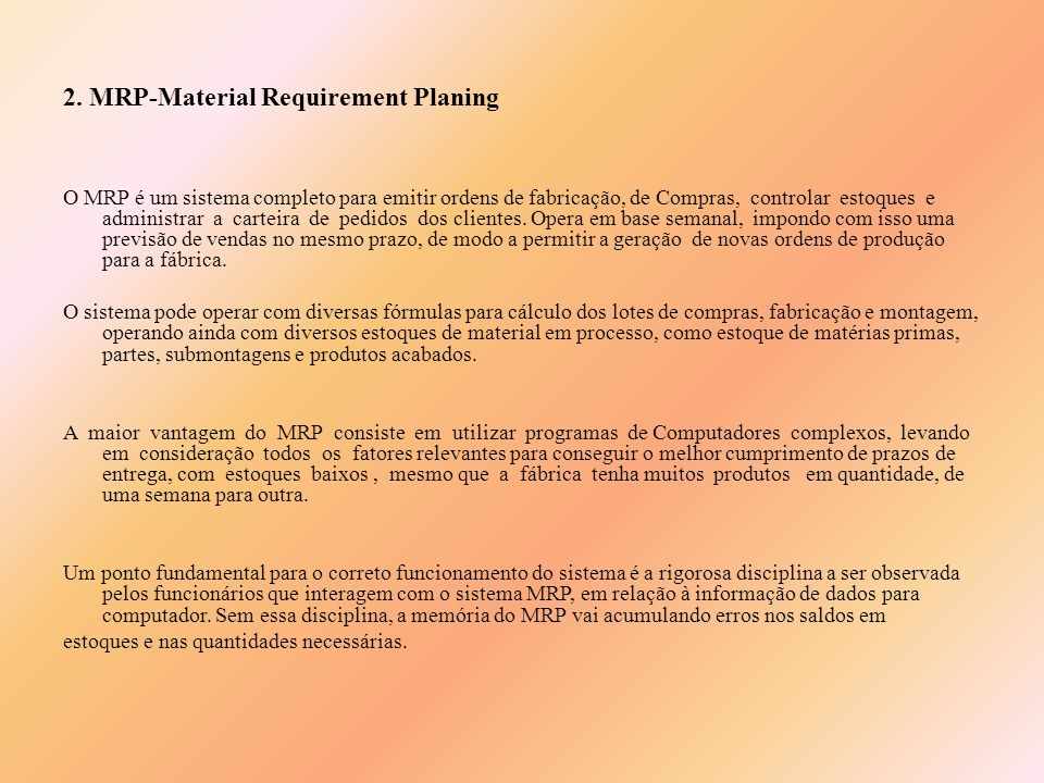 2. MRP-Material Requirement Planing