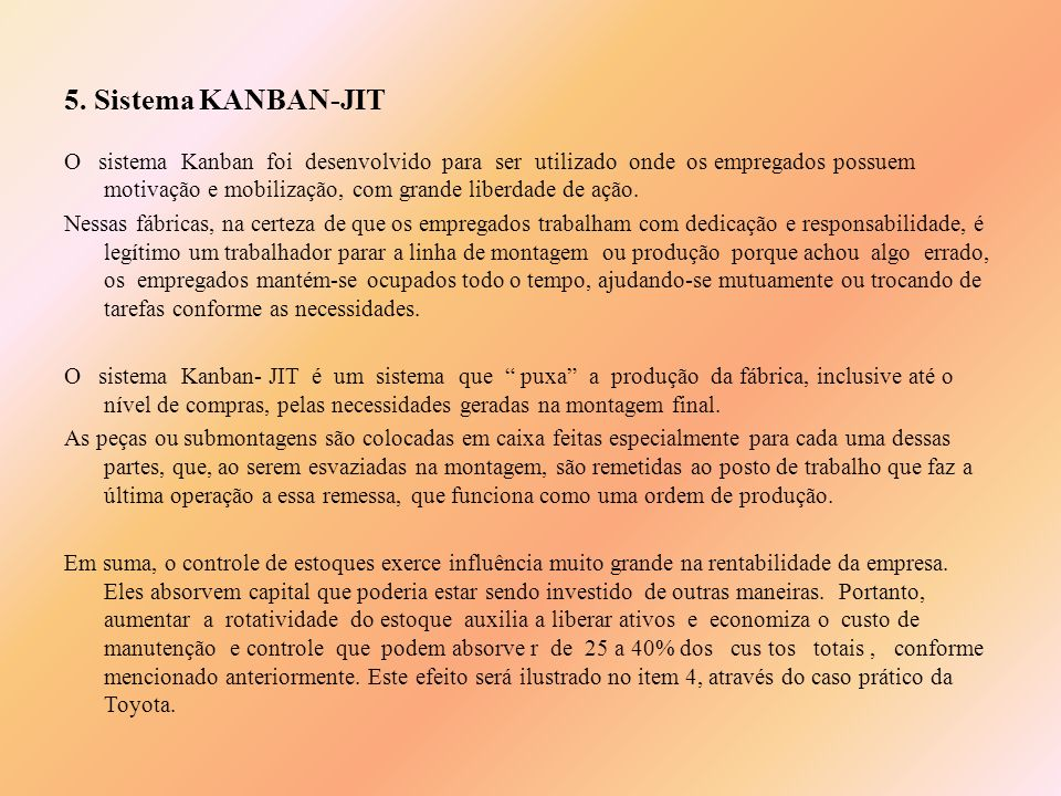 5. Sistema KANBAN-JIT