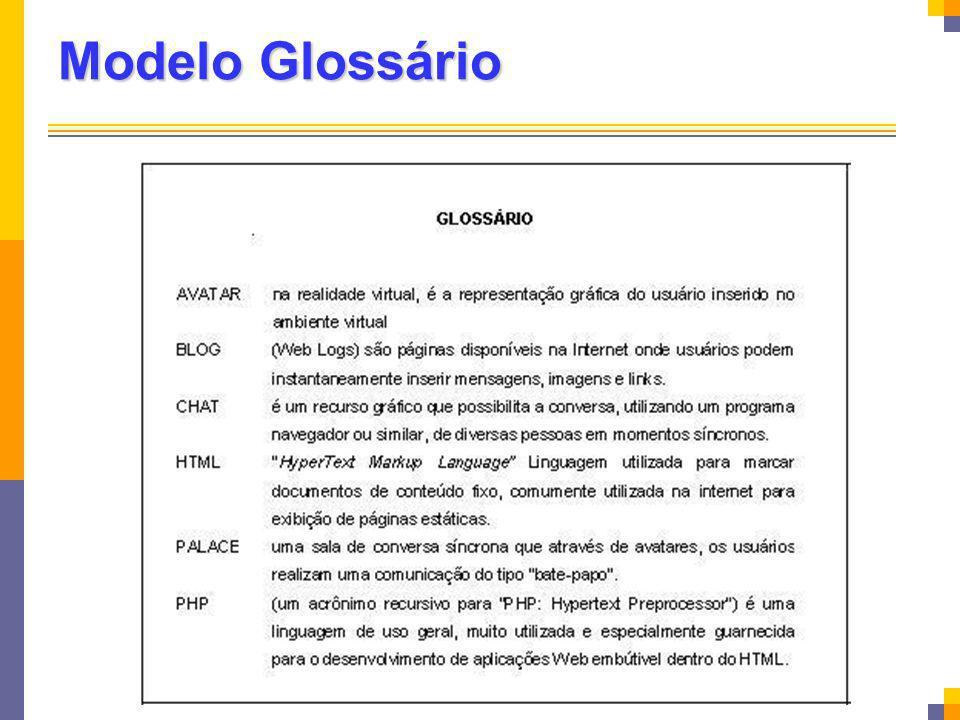 Modelo Glossário