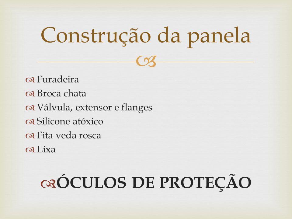 Construção da panela ÓCULOS DE PROTEÇÃO Furadeira Broca chata