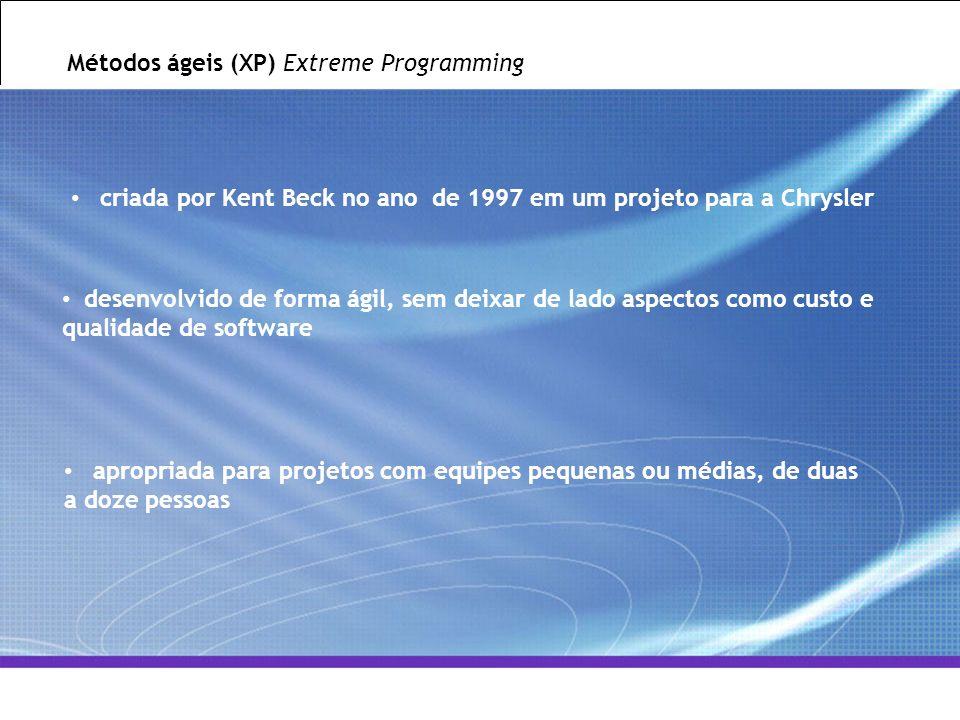 Métodos ágeis (XP) Extreme Programming