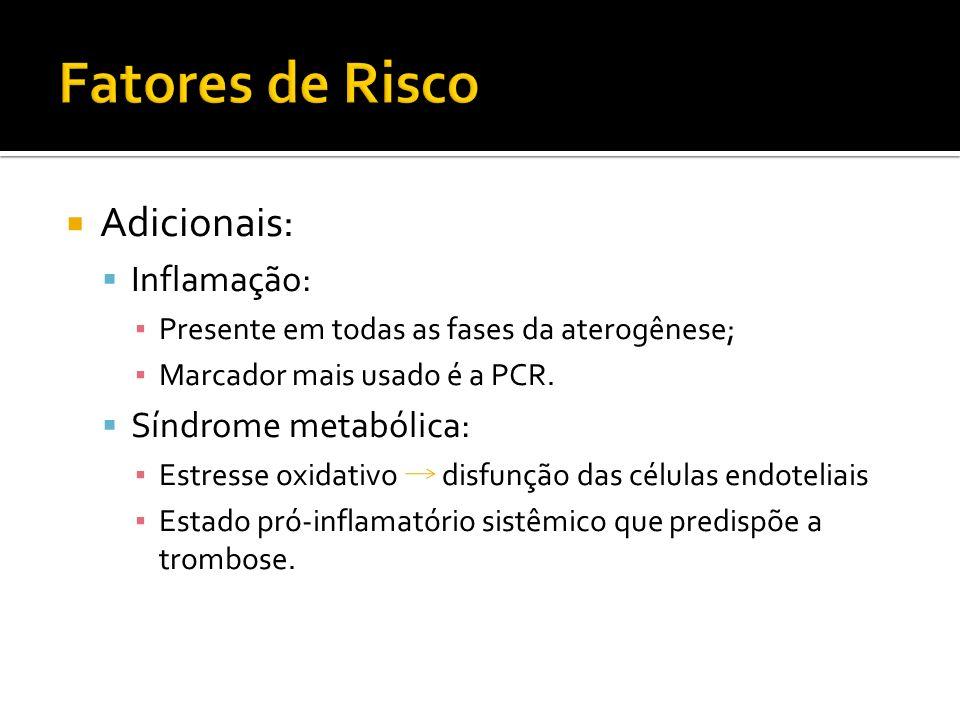 Fatores de Risco Adicionais: Inflamação: Síndrome metabólica: