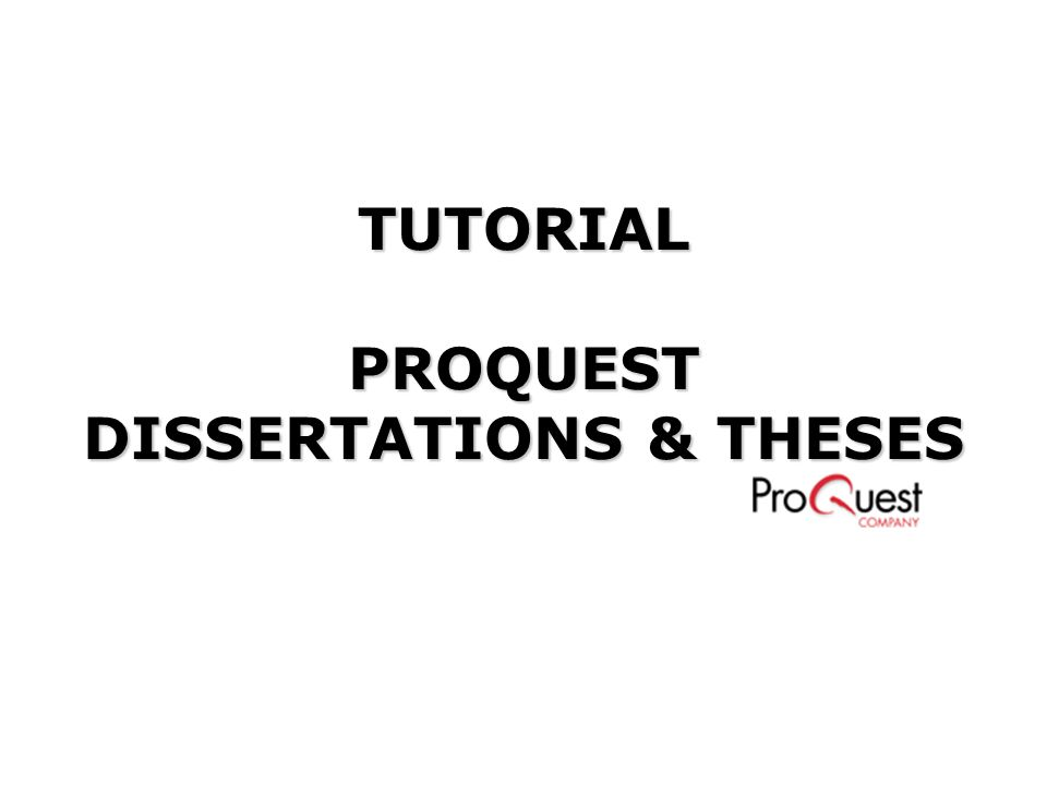 proquest dissertations and theses 2011 A growing number of open access thesis repositories is becoming available  including: proquest, holds many full text theses you can search for dissertations .