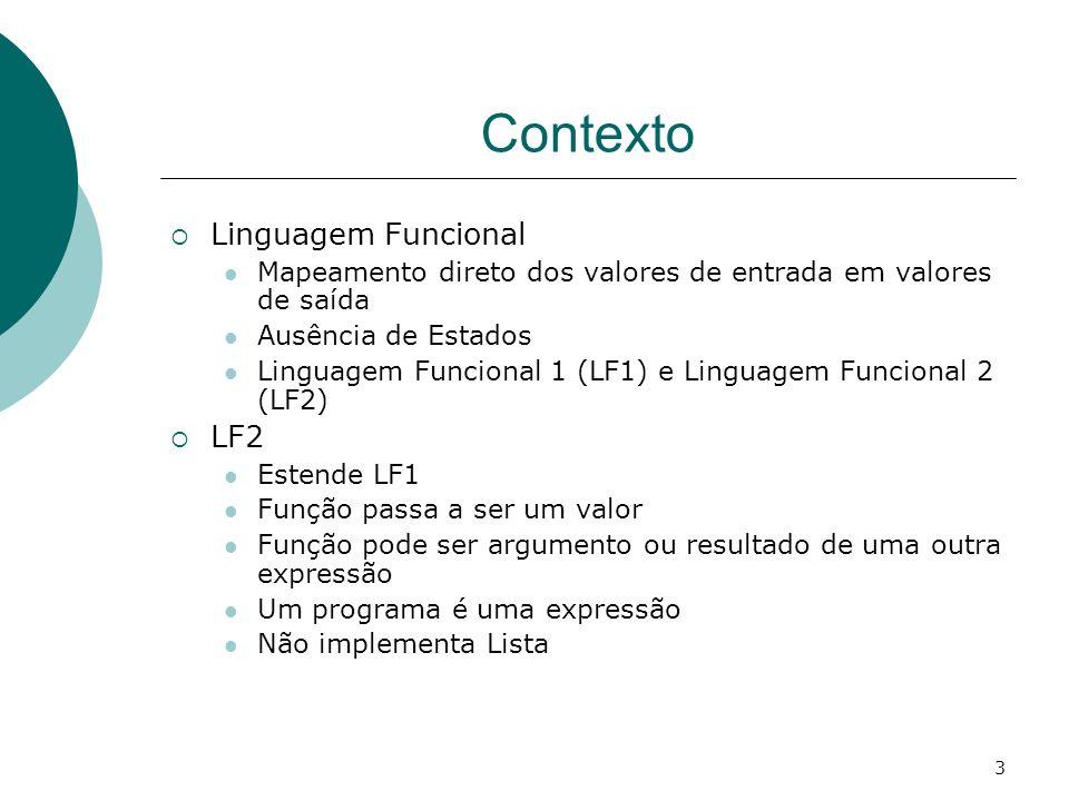 Contexto Linguagem Funcional LF2