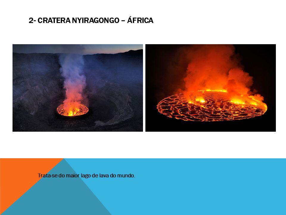 2- Cratera Nyiragongo – África