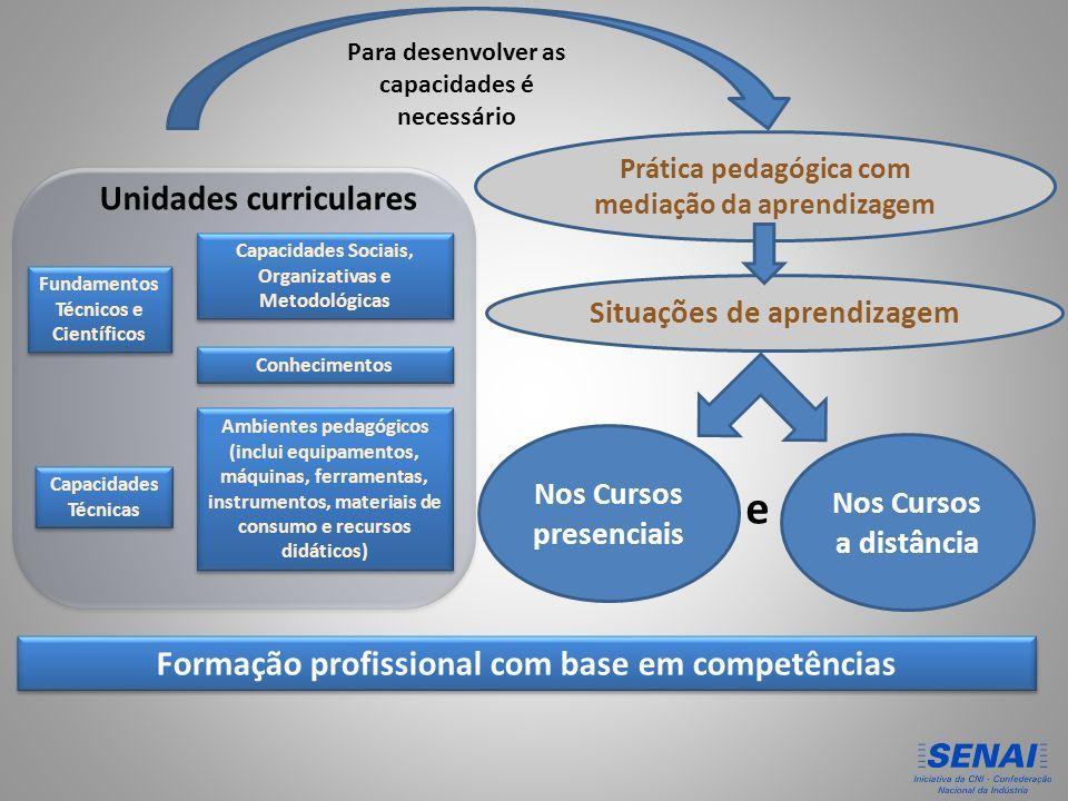 e Unidades curriculares Formação profissional com base em competências