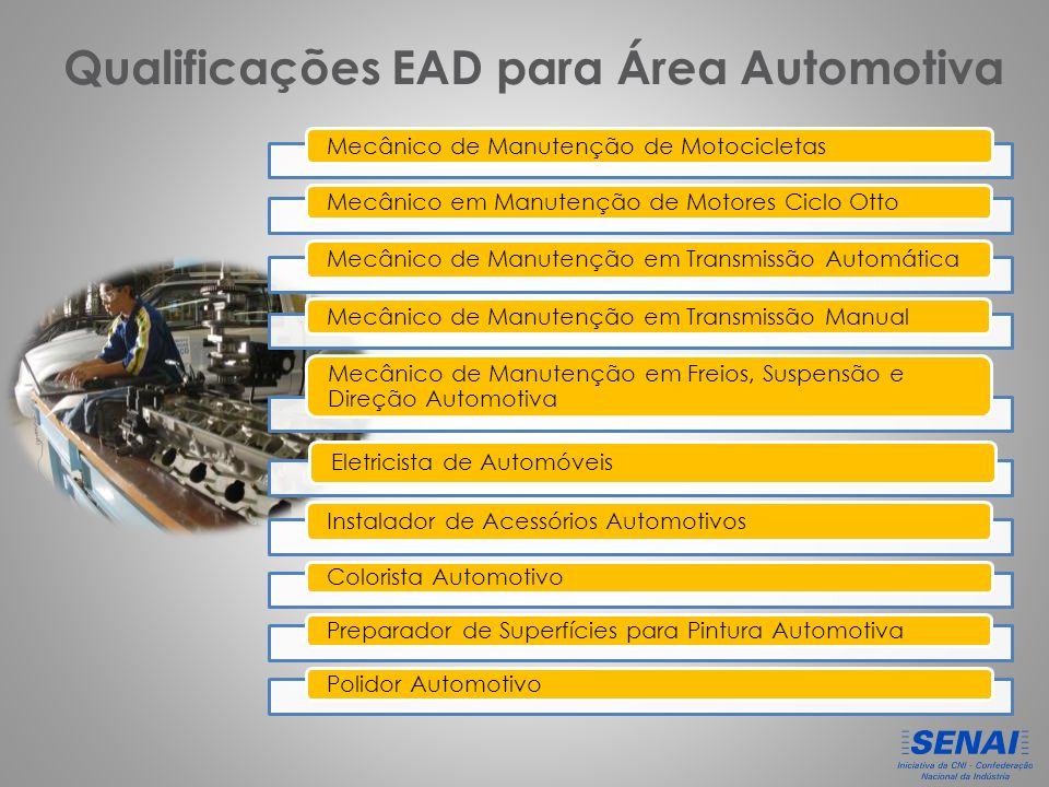 Qualificações EAD para Área Automotiva