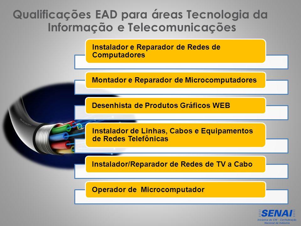 Qualificações EAD para áreas Tecnologia da