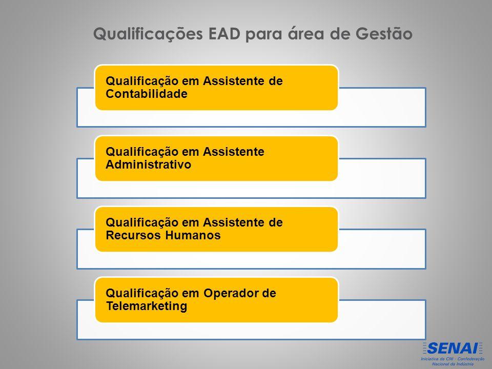 Qualificações EAD para área de Gestão