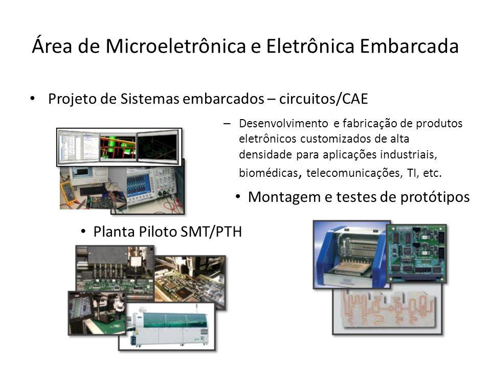 Área de Microeletrônica e Eletrônica Embarcada