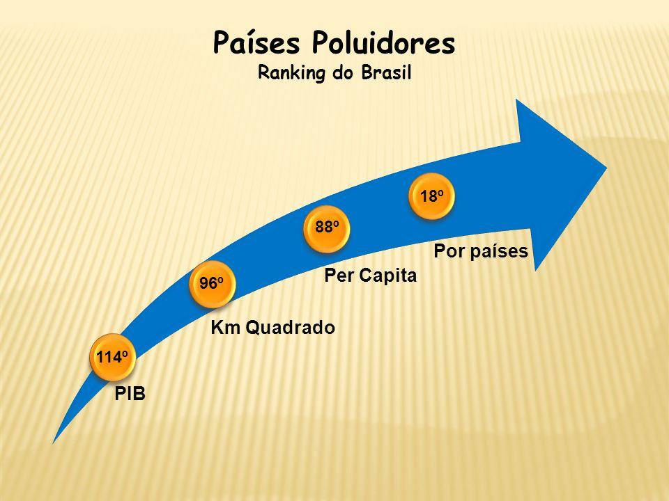 Países Poluidores Ranking do Brasil 18º 88º 96º 114º PIB Km Quadrado
