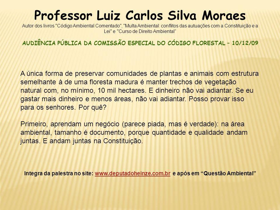 Professor Luiz Carlos Silva Moraes