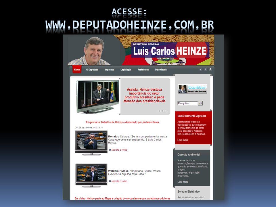 Acesse: www.deputadoheinze.com.br