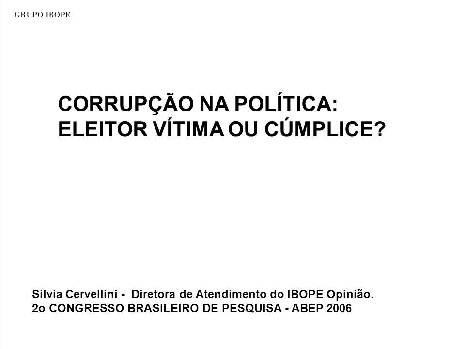 CORRUPÇÃO NA POLÍTICA: ELEITOR VÍTIMA OU CÚMPLICE