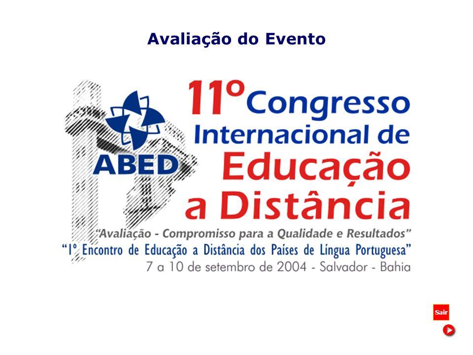 Avaliação do Evento Sair 11º Congresso Internacional de Educação a Distância - BA 2004