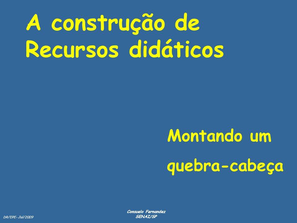A construção de Recursos didáticos Montando um quebra-cabeça