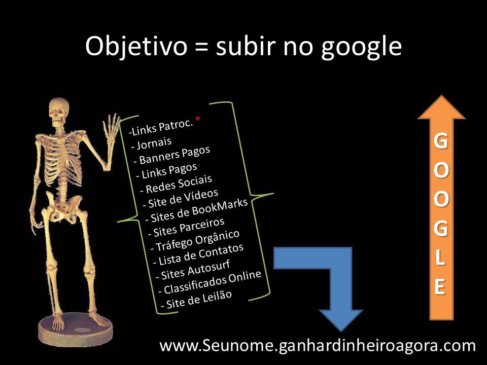 Objetivo = subir no google