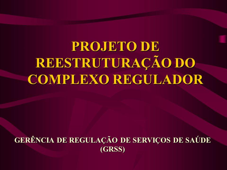 PROJETO DE REESTRUTURAÇÃO DO COMPLEXO REGULADOR