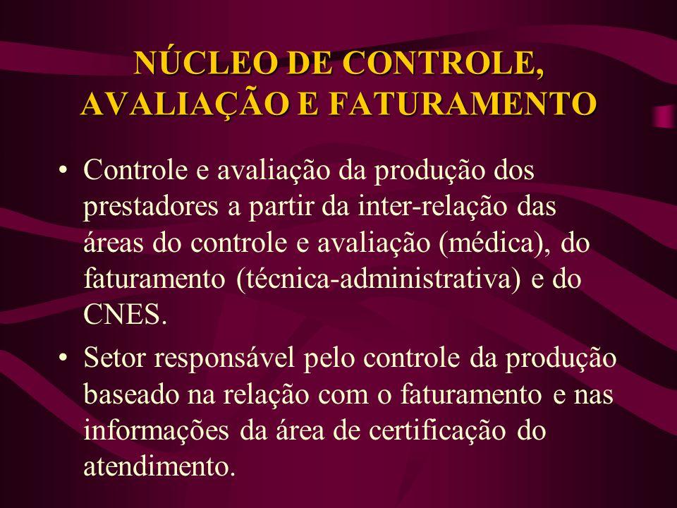 NÚCLEO DE CONTROLE, AVALIAÇÃO E FATURAMENTO
