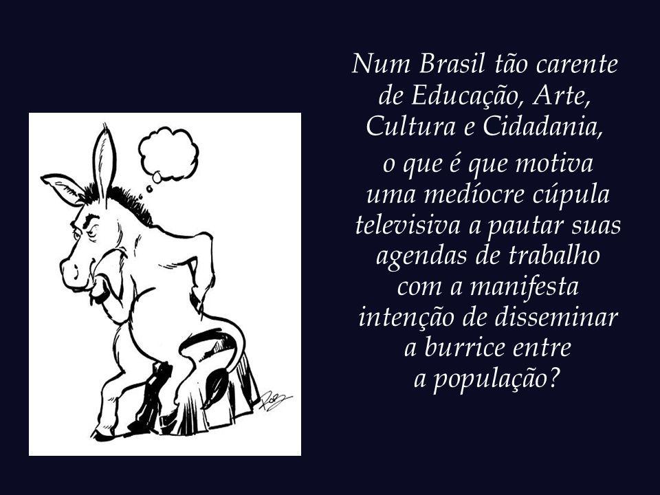 Num Brasil tão carente de Educação, Arte, Cultura e Cidadania, o que é que motiva.