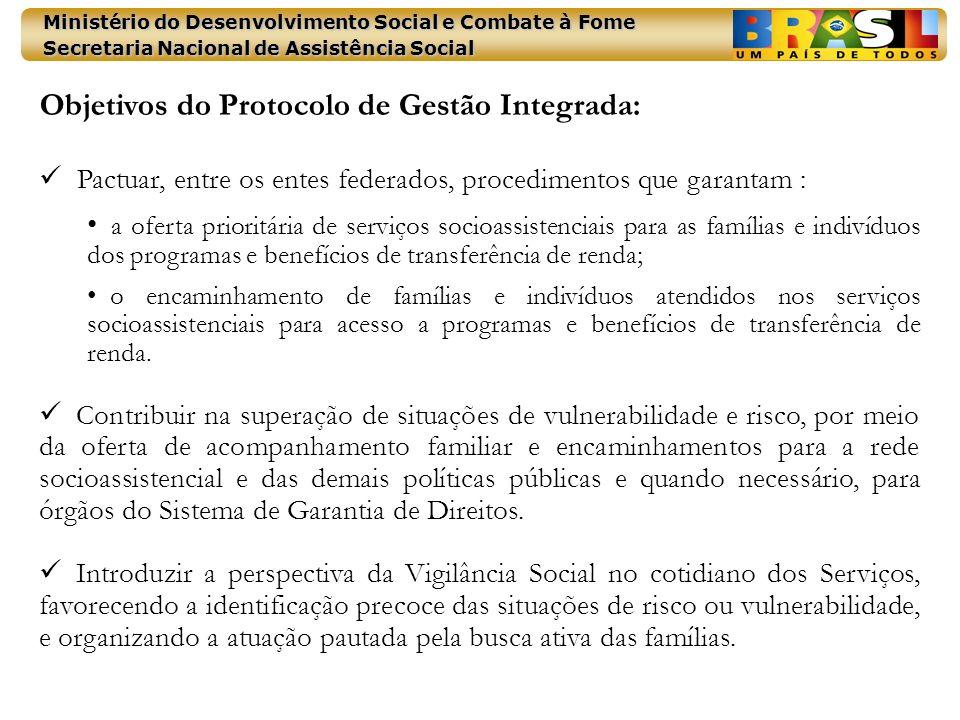 Objetivos do Protocolo de Gestão Integrada: