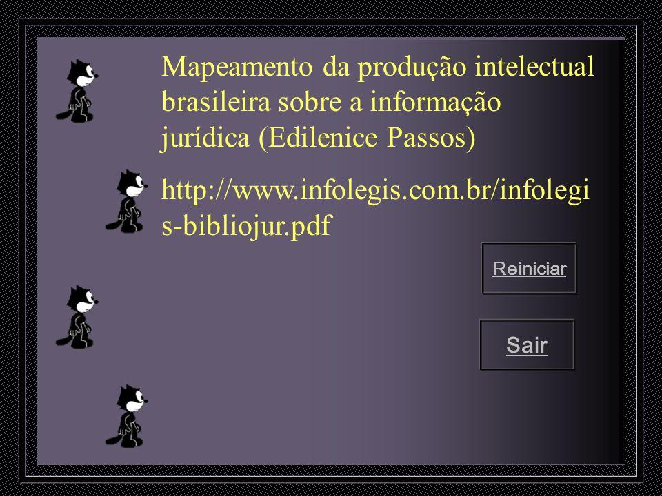 Mapeamento da produção intelectual brasileira sobre a informação jurídica (Edilenice Passos)