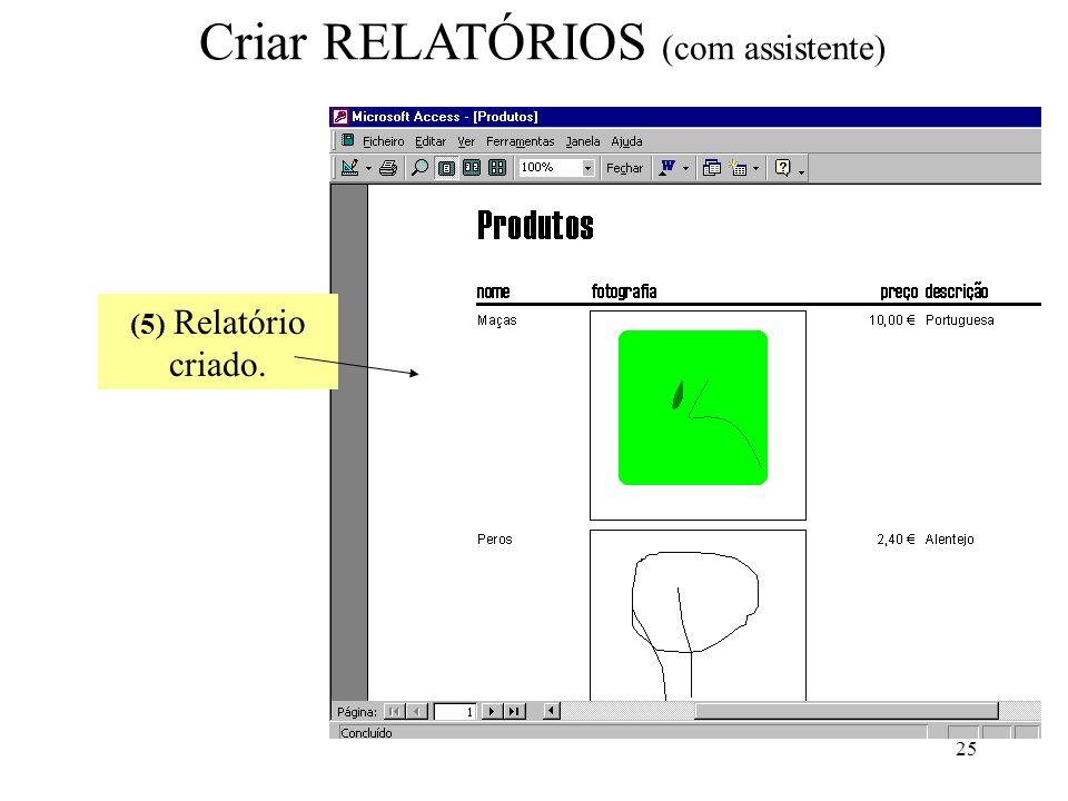 Criar RELATÓRIOS (com assistente)
