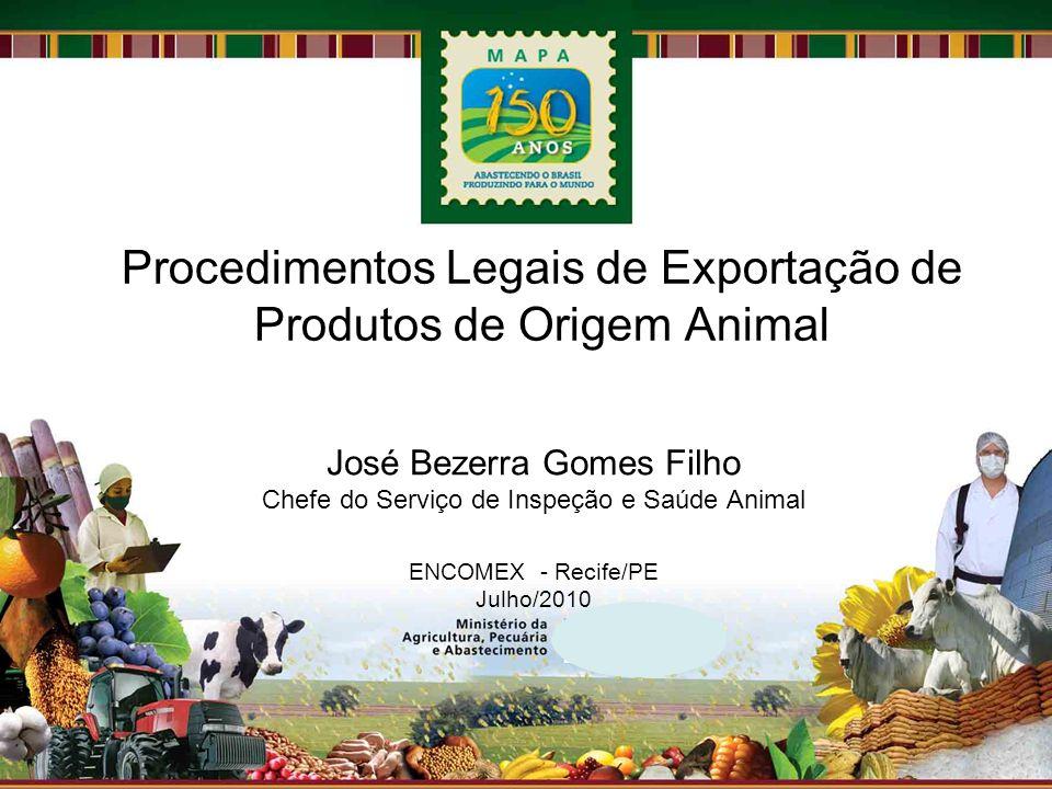 Procedimentos Legais de Exportação de Produtos de Origem Animal