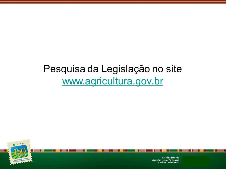 Pesquisa da Legislação no site
