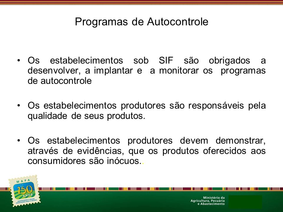 Programas de Autocontrole
