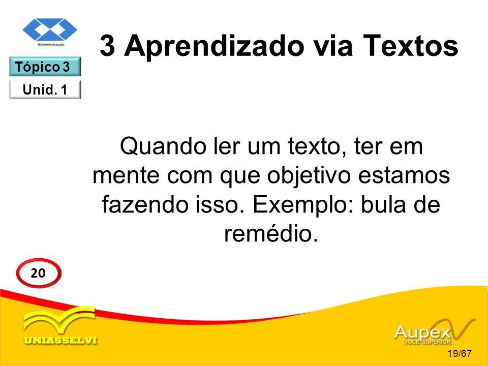 3 Aprendizado via Textos