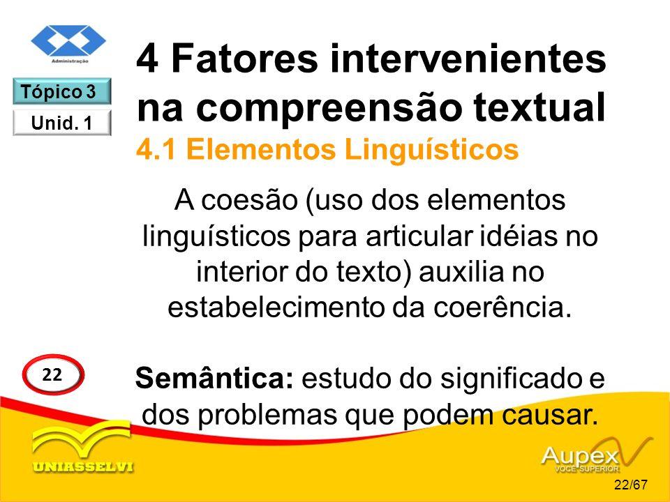 4 Fatores intervenientes na compreensão textual 4