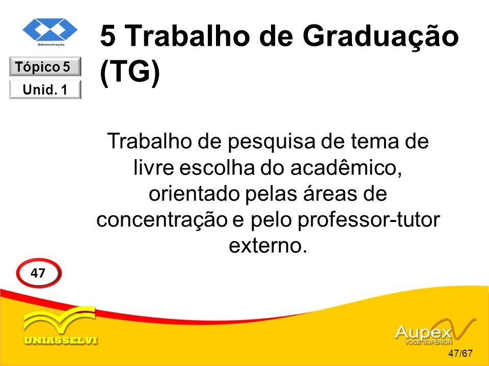 5 Trabalho de Graduação (TG)