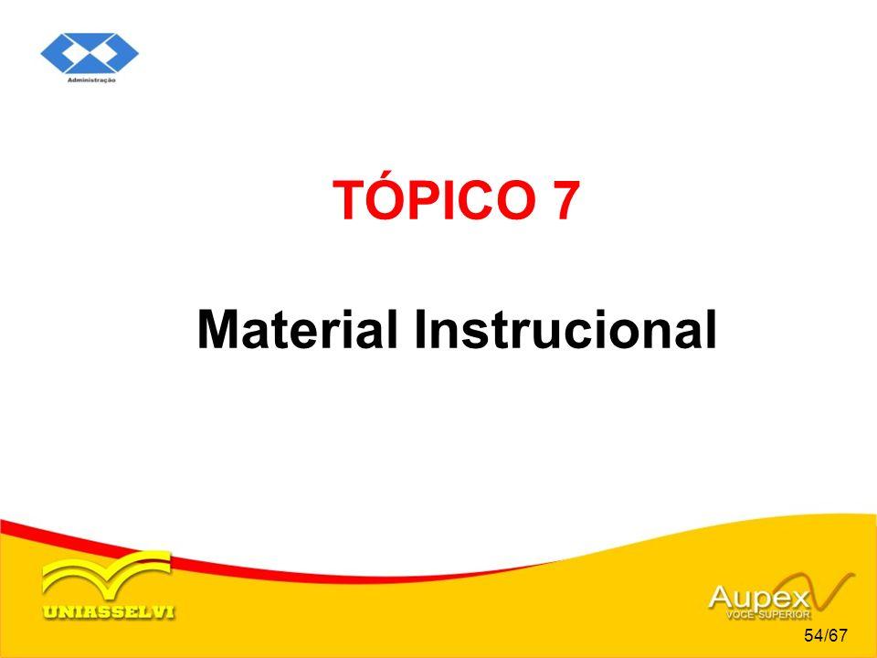 TÓPICO 7 Material Instrucional