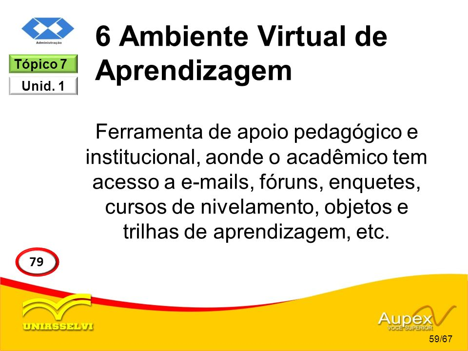 6 Ambiente Virtual de Aprendizagem