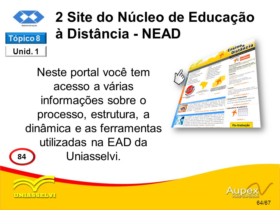 2 Site do Núcleo de Educação à Distância - NEAD