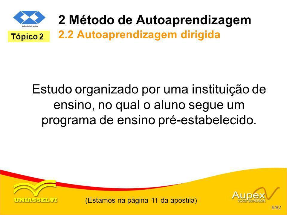 2 Método de Autoaprendizagem 2.2 Autoaprendizagem dirigida