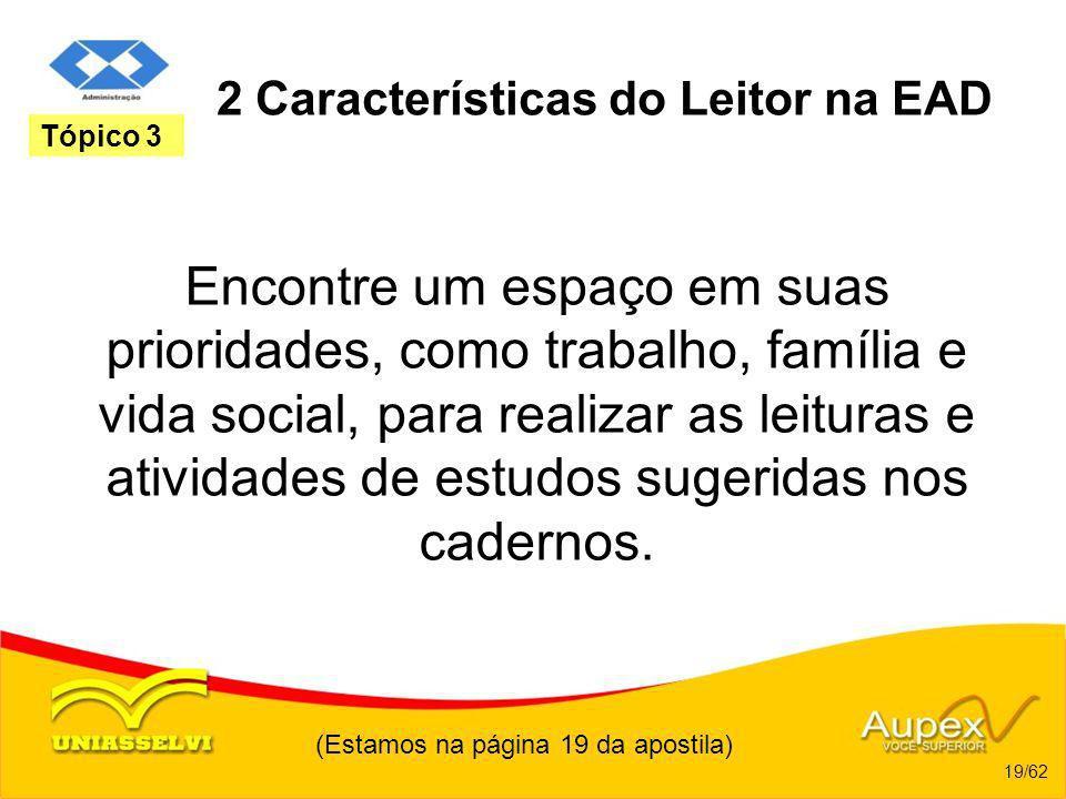 2 Características do Leitor na EAD