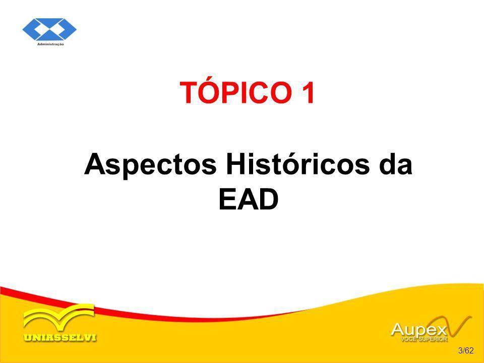 TÓPICO 1 Aspectos Históricos da EAD