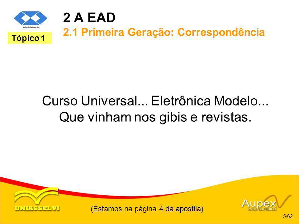 2 A EAD 2.1 Primeira Geração: Correspondência