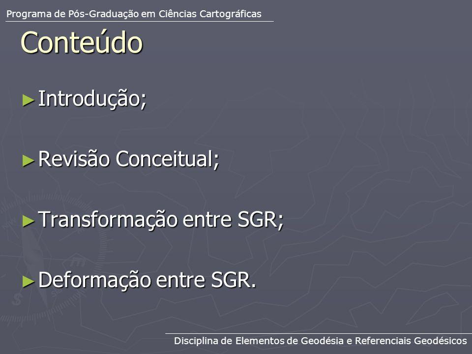Conteúdo Introdução; Revisão Conceitual; Transformação entre SGR;