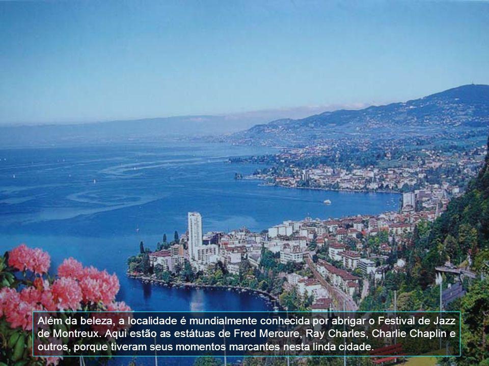 Além da beleza, a localidade é mundialmente conhecida por abrigar o Festival de Jazz de Montreux.