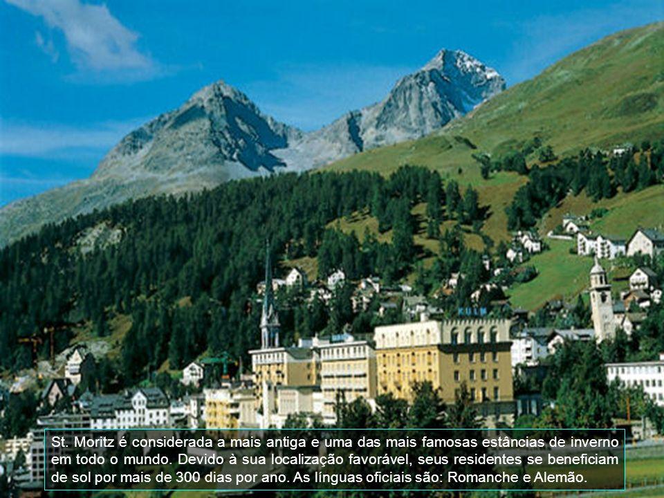St. Moritz é considerada a mais antiga e uma das mais famosas estâncias de inverno em todo o mundo.