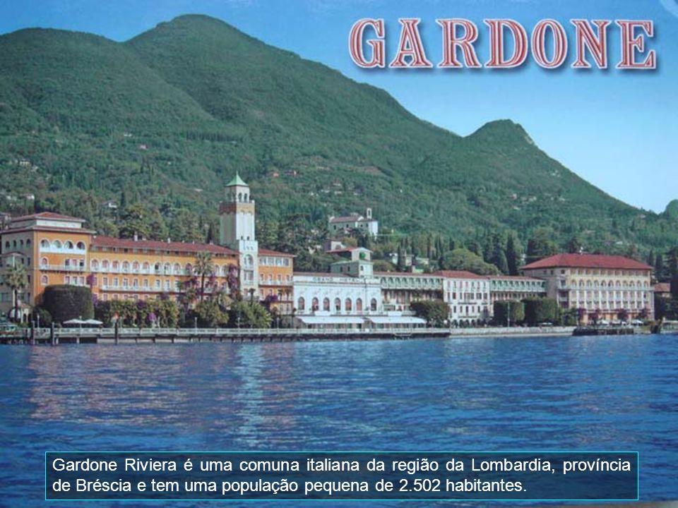 Gardone Riviera é uma comuna italiana da região da Lombardia, província de Bréscia e tem uma população pequena de 2.502 habitantes.