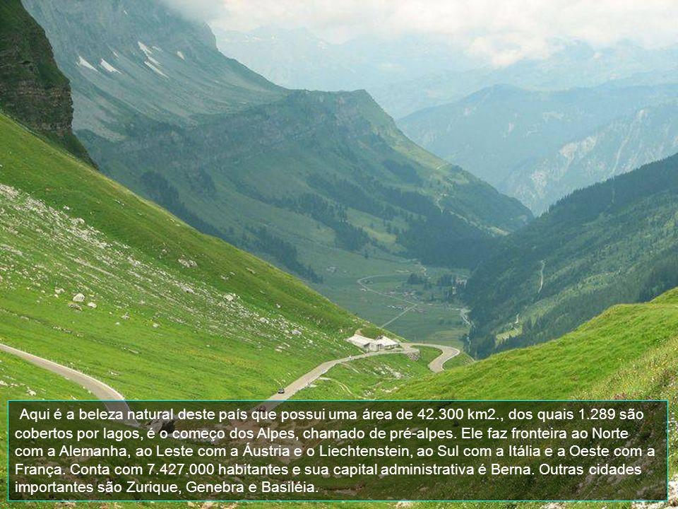 Aqui é a beleza natural deste país que possui uma área de 42. 300 km2
