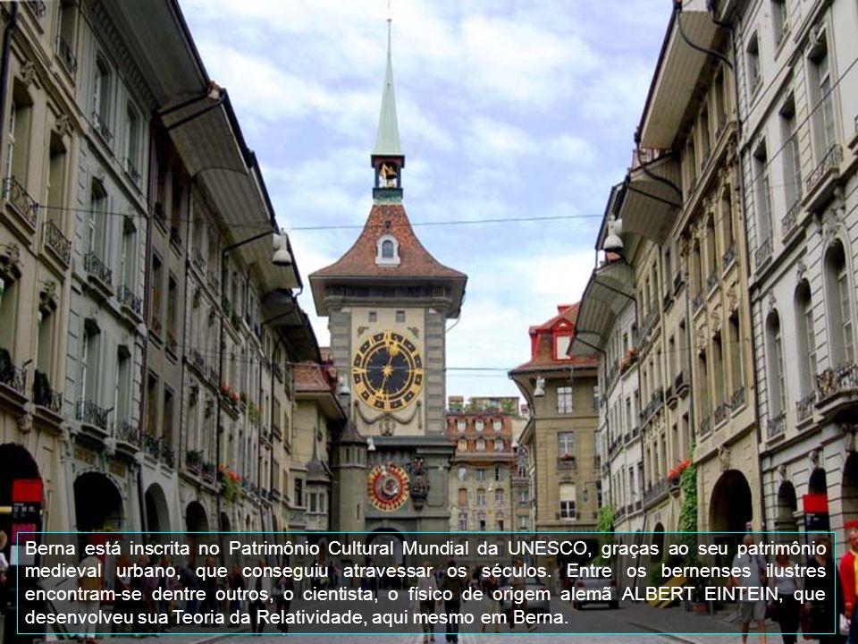 Berna está inscrita no Patrimônio Cultural Mundial da UNESCO, graças ao seu patrimônio medieval urbano, que conseguiu atravessar os séculos.