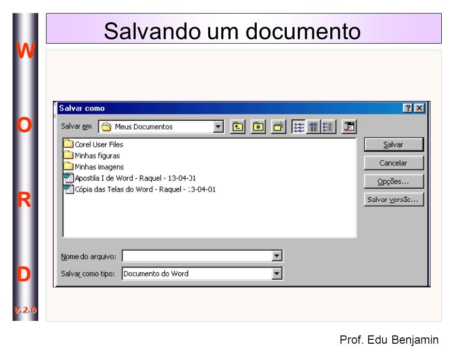 Salvando um documento