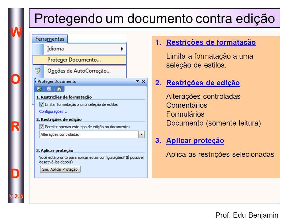 Protegendo um documento contra edição
