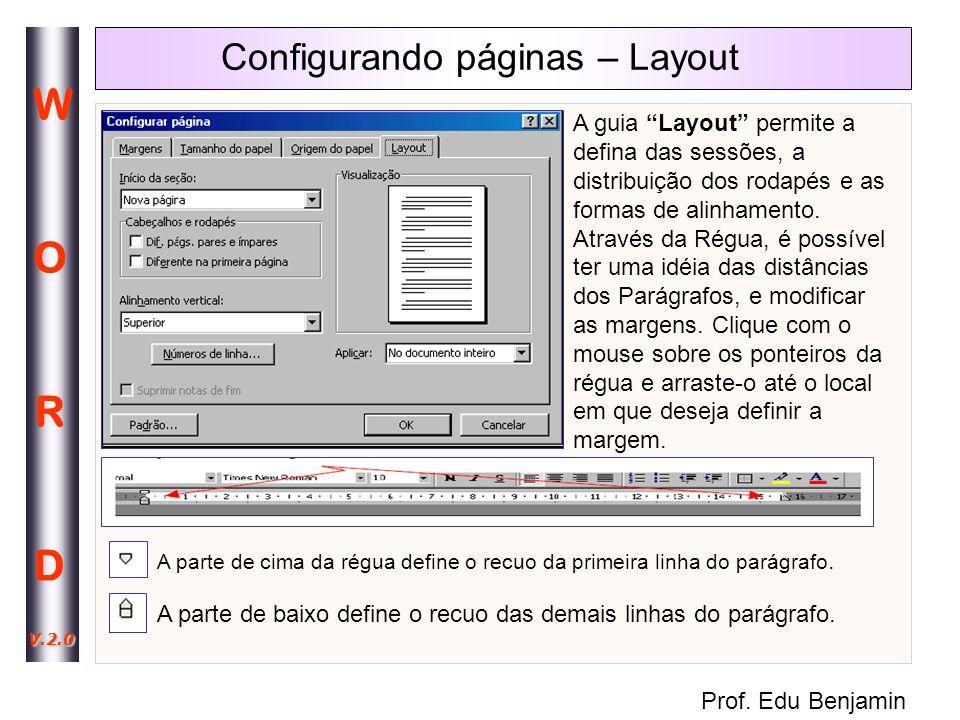Configurando páginas – Layout