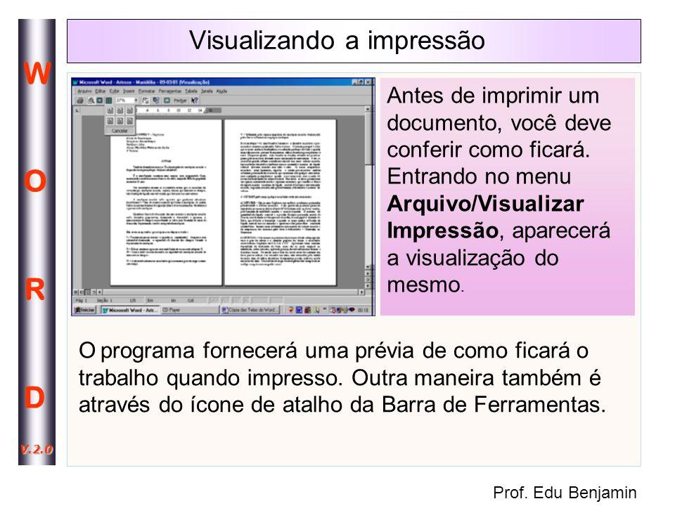 Visualizando a impressão